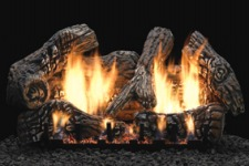 Super Charred Oak Ceramic Fiber Gas Log Set