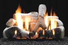 Birch Ceramic Fiber Gas Log Set