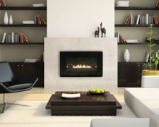 Loft Contemporary Vent-Free Gas Fireplace Insert